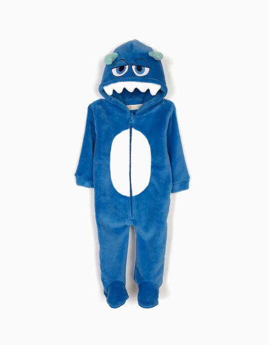 Pijama Macacão com Capuz e Pés Little Monster