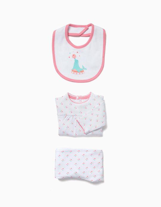 Conjunto Pijama e Babete