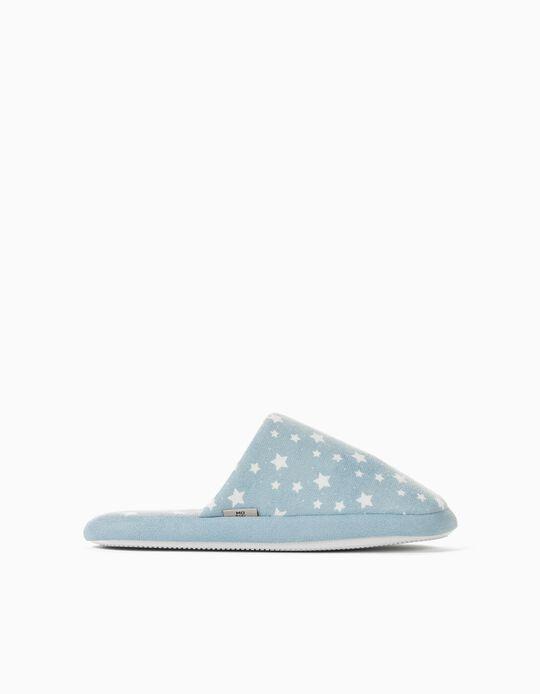 Padded Bedroom Slippers for Women, Blue