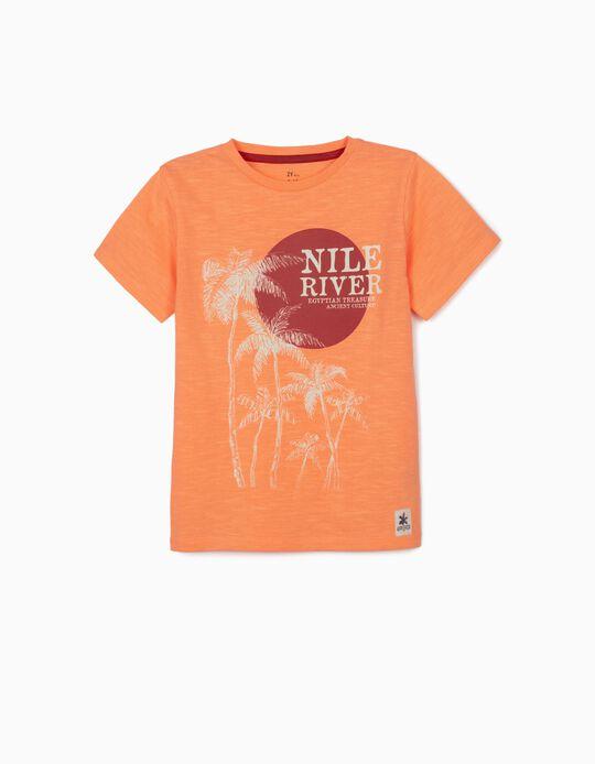 T-shirt para Menino 'Nile River', Laranja