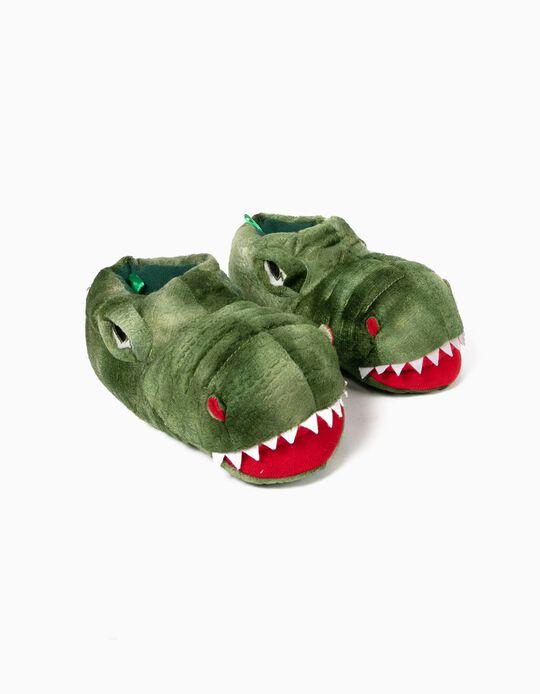 Pantufas Verdes Dinossauro