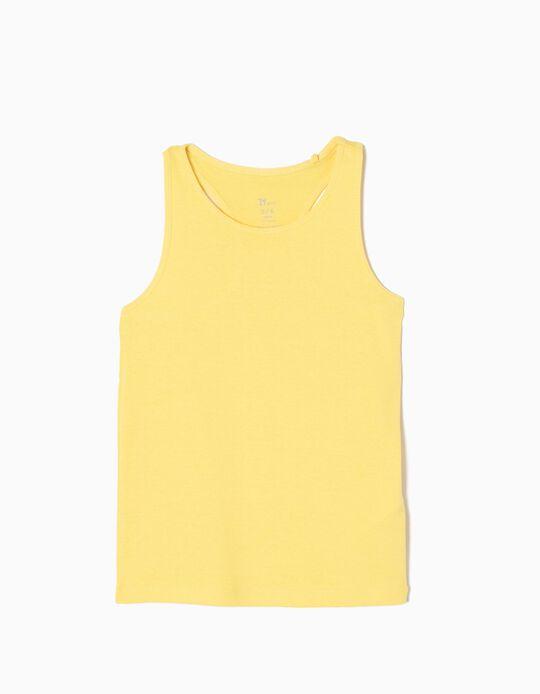 Top sem Mangas Amarelo