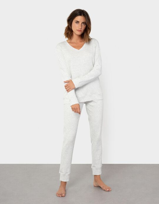 Pyjama T-shirt, Rib Knit, Women