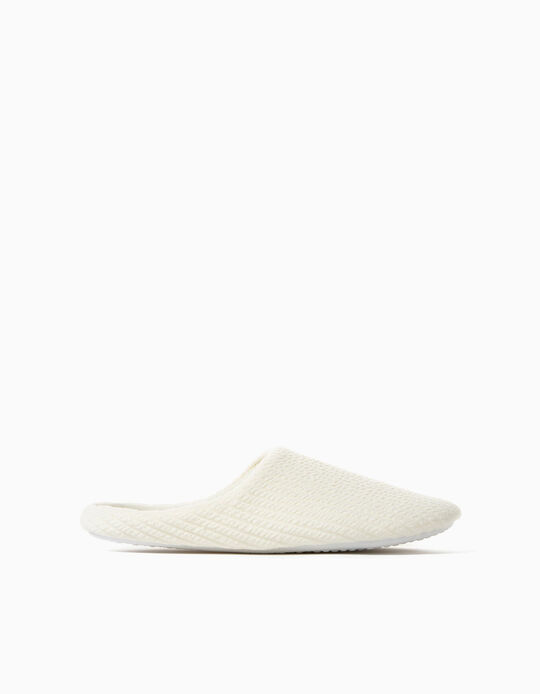 Bedroom Slippers, Rib Knit