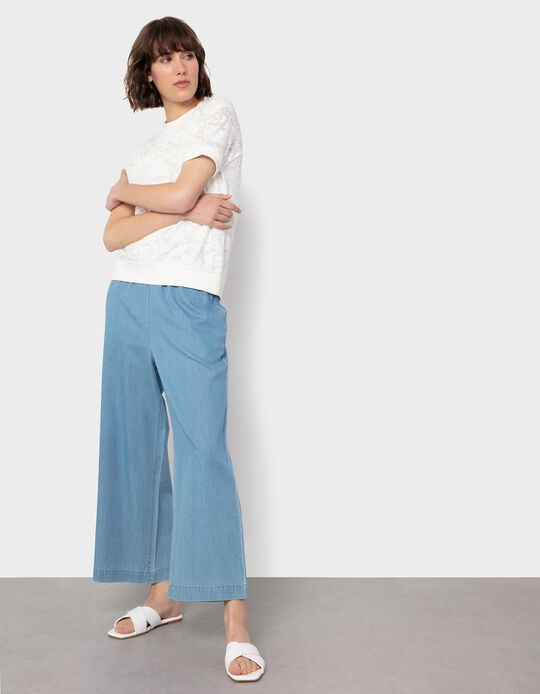 Jeans Palazzo, para Mulher