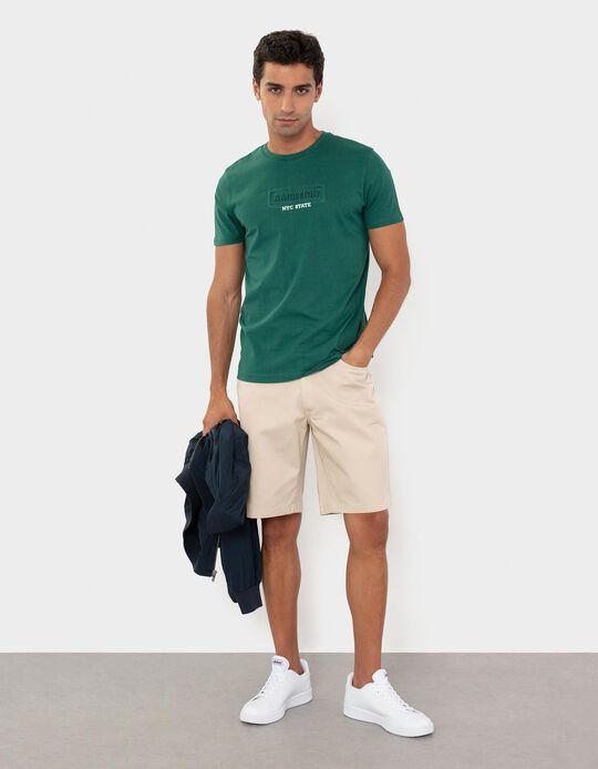 Cotton T-shirt for Men, Green