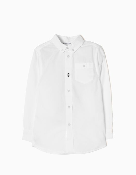 Long-Sleeve Shirt for Boys, White