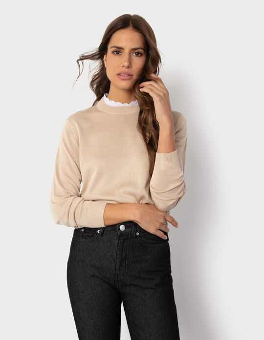 Jumper with Lace, for Women