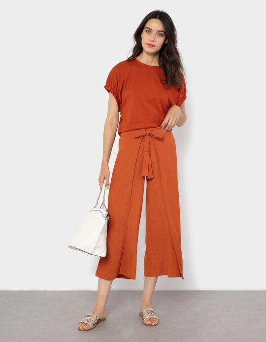 Skirt Trousers for Women, Blue