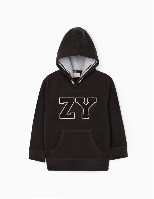 Polar Fleece Sweatshirt for Boys 'ZY', Grey