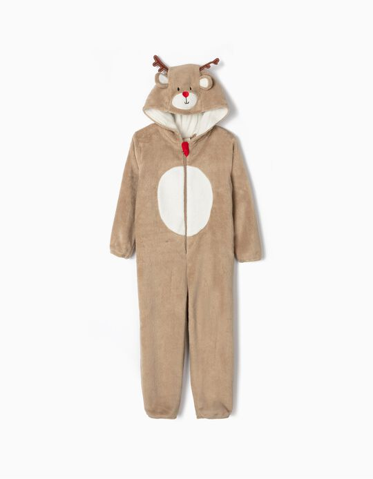 Onesie for Boys 'Reindeer', Brown