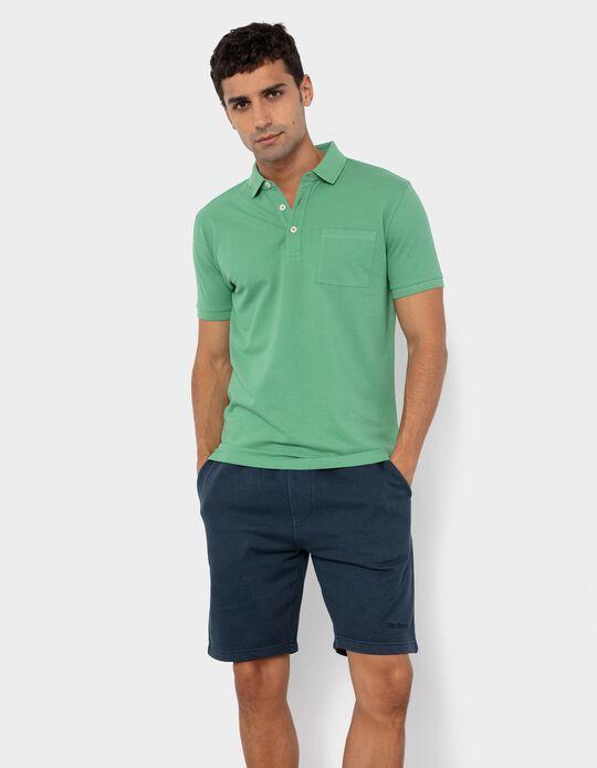 PiquéKnit Polo Shirt for Men, Green