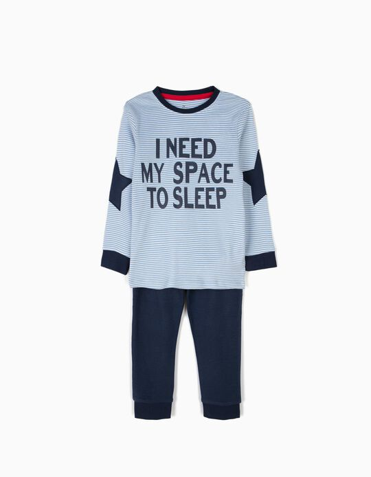 Long-sleeve Pyjamas for Boys 'Stripes', Blue