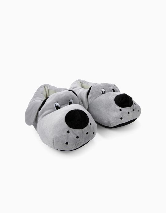 Pantufa cão cinzento