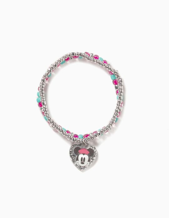 Beads Bracelet for Girls 'Minnie', Silver