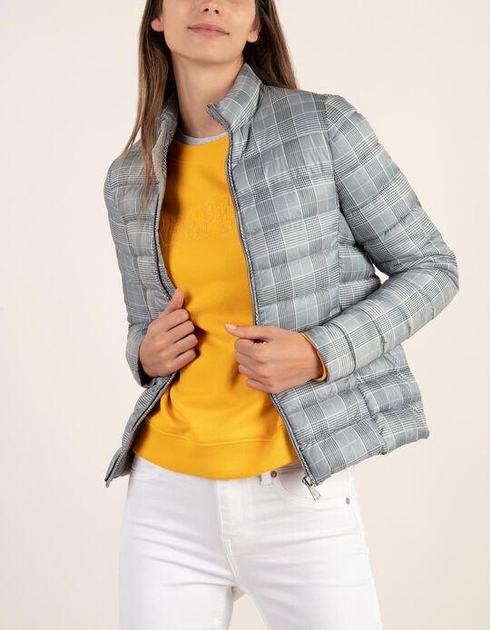 Blusão acolchoado xadrez