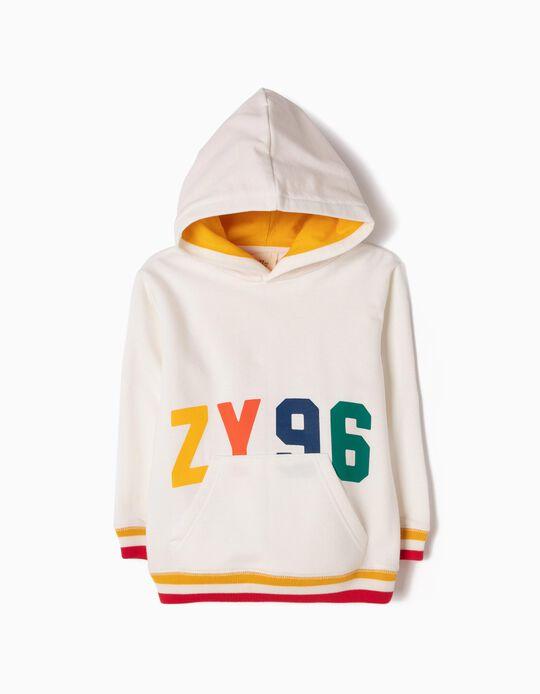 Sweatshirt com Capuz Branca ZY 96