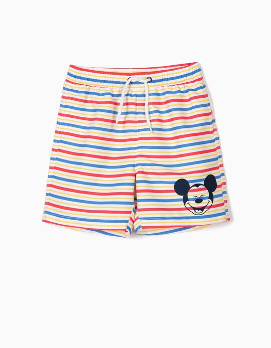 Swim Shorts UPF 80 for Boys 'Mickey', Multicolour