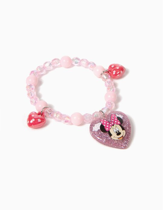 Pink Beaded Bracelet, Minnie