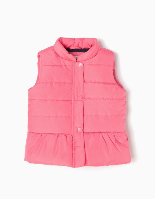 Padded Waistcoat, Pink