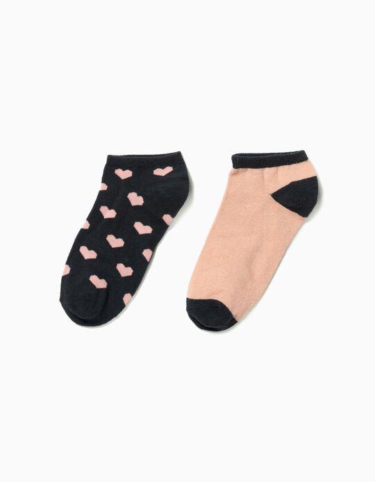 Pack de 2 pares de meias pelo tornozelo