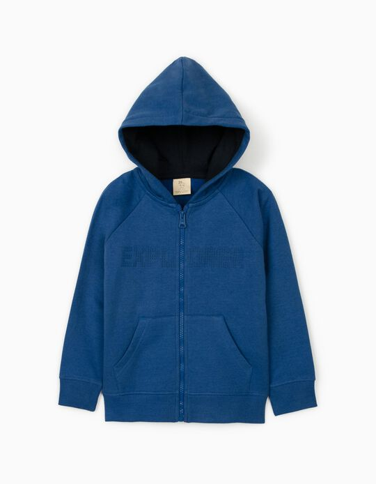 Hooded Jacket for Boys, 'Explorer', Blue