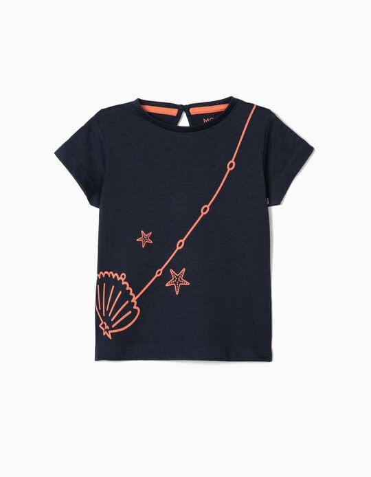 T-shirt for Baby Girls, 'Shell'