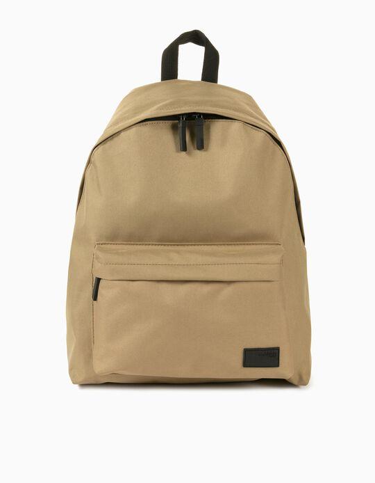Canvas Backpack for Men, Beige