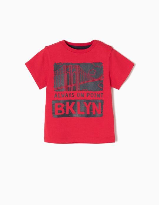 T-shirt New York Vermelha