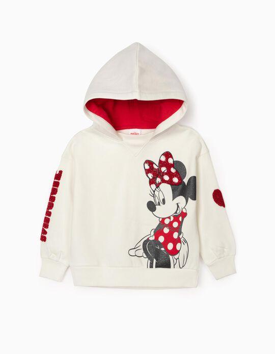 Hooded Sweatshirt for Girls 'Minnie', White