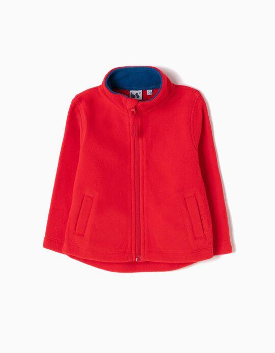 Red Polar Fleece Jacket