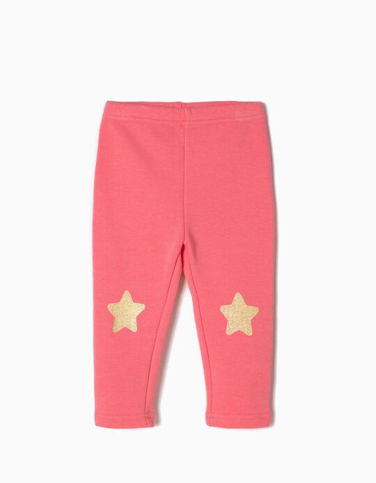 Calças de Treino Estrelas Rosa