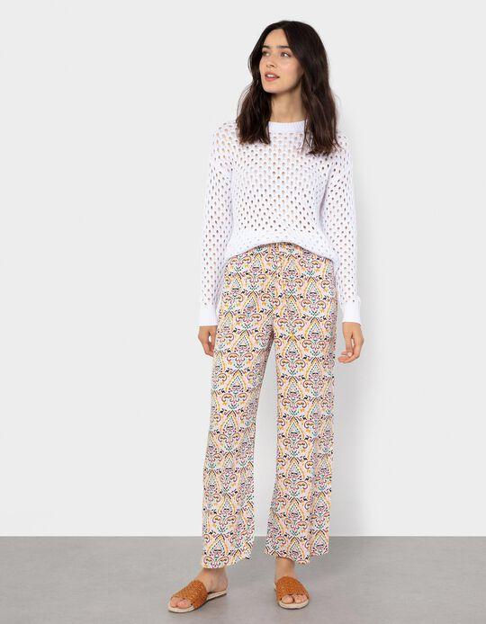 Lace Knit Jumper, White
