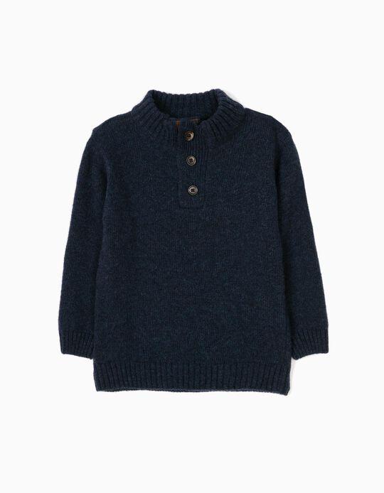 Camisola de Lã Azul Marinho