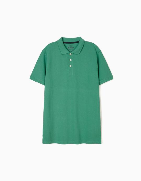 Piqué Knit Polo Shirt, for Men