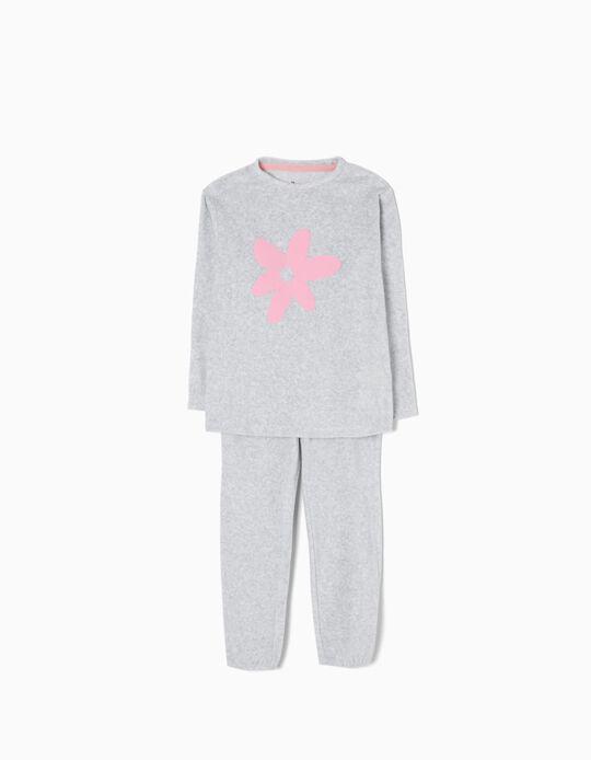 Pijama Veludo Flower