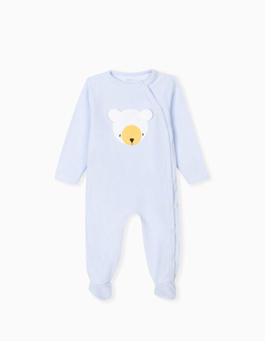 Polar Fleece Sleepsuit, Babies, Blue