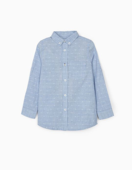 Striped Shirt for Boys, Blue