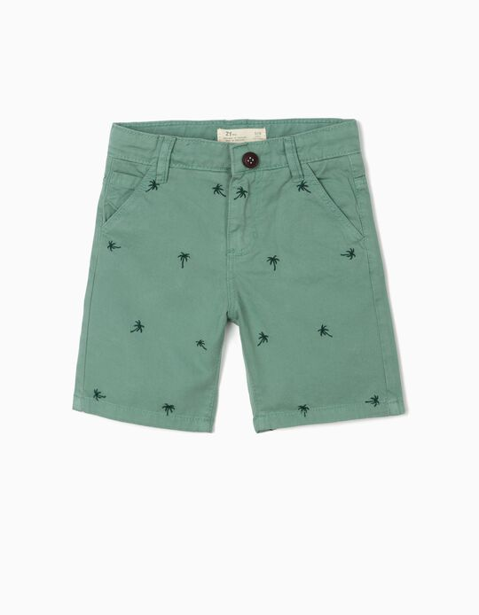 Shorts for Boys, 'Palm Tree', Green