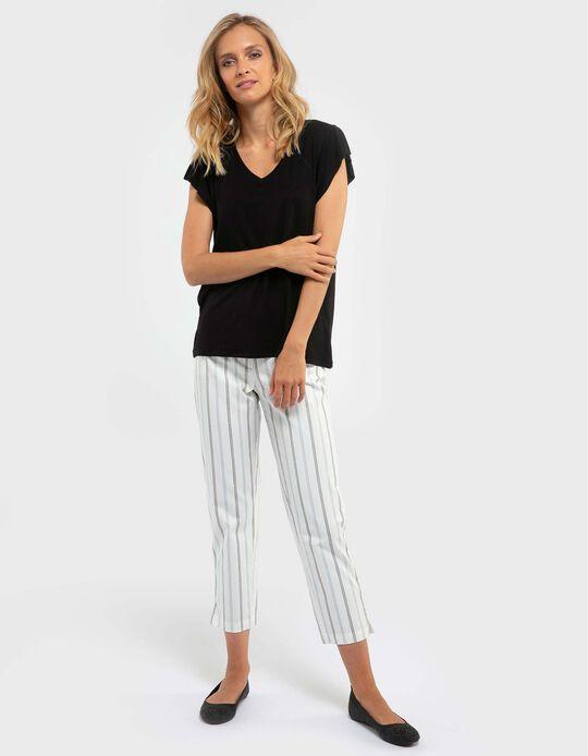 Herringbone Pattern Trousers