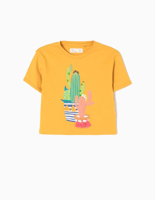 Yellow Short T-Shirt, Cactus