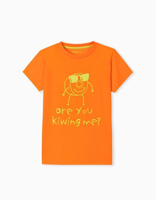 T-shirt com Estampado, Menino