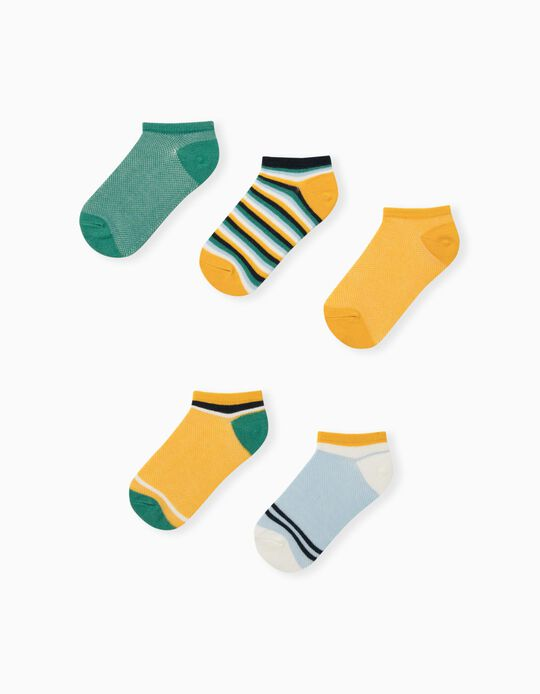 5 Pairs of Assorted Trainer Socks for Children