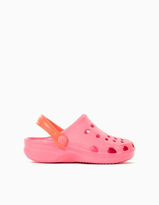 Clogs for Children, Pink/ Orange
