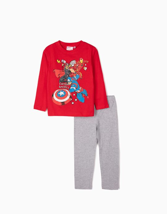 Pyjamas for Boys 'Avengers', Red/Grey