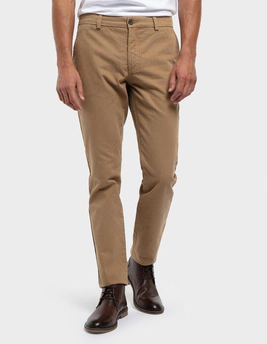 Regular fit twill trousers