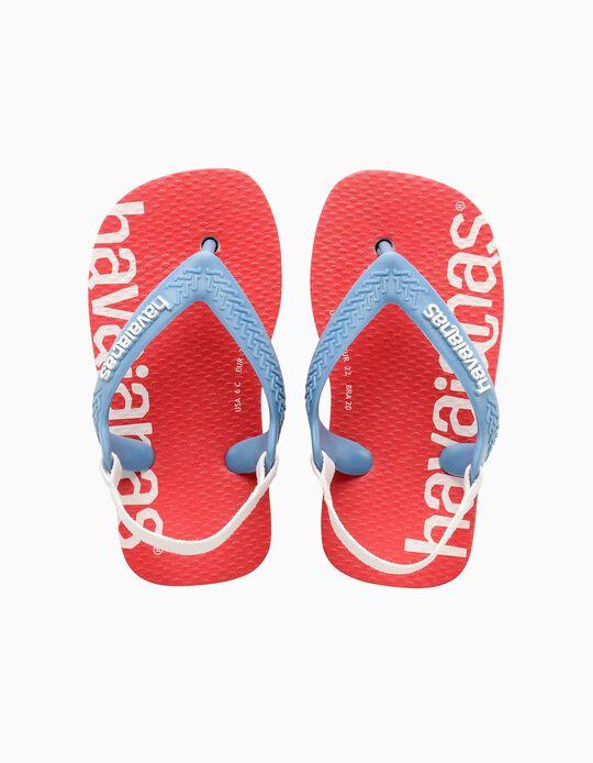 Havaianas Logomania for Babies, Red