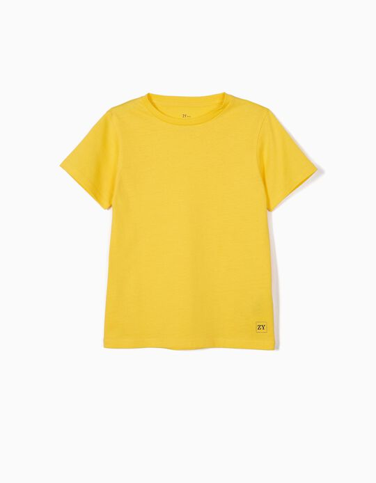 Basic T-shirt for Boys, Yellow