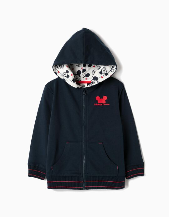 Hooded Jacket for Boys 'Mickey', Dark Blue