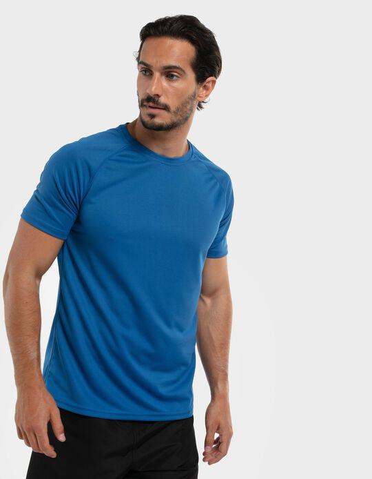 T-shirt técnica em malha respirável